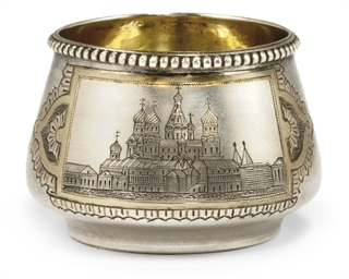 A RUSSIAN PARCEL-GILT SILVER S
