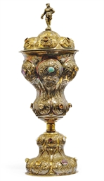A RUSSIAN SILVER-GILT CUP AND
