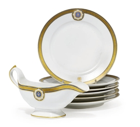 A SET OF SIX PLATES FROM HER M