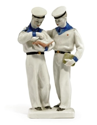 TWO PORCELAIN FIGURES
