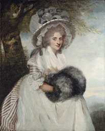 Portrait of Mrs Wells, three-q