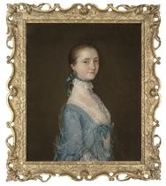 Portait of Elizabeth, wife of Richard Colvile (1737-1784), half-length, in a blue dress