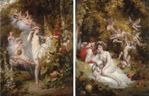 Flora unveiled by Zephyrs; and Vertumnus and Pomona