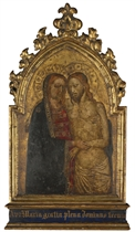 Christ at the Tomb supported by the Madonna