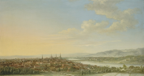 A panoramic view of Dresden, w
