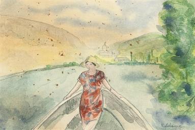Femme dans un bâteau