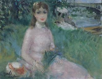 Eugénie au bouquet champêtre,