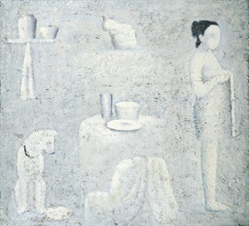 Woman with pets in an interior