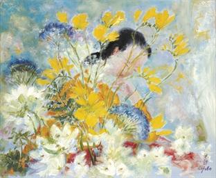 Femme aux fleurs jaunes (Woman