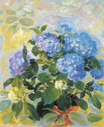 Le hortensias bleus (The blue
