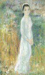 A Vietnamese lady in a field