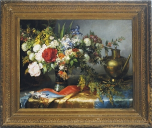 Still life of flowers in a vas