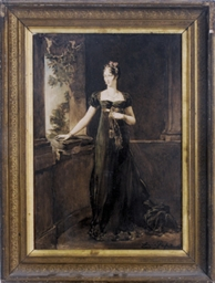 Portrait of a lady in a long g