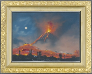 The eruption of Vesuvius durin