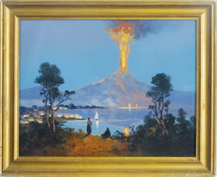 View of the eruption of Vesuvi