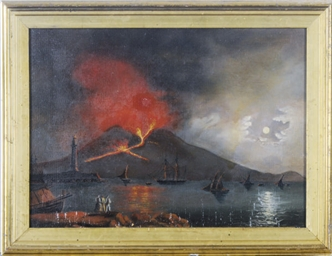The eruption of Vesuvius under
