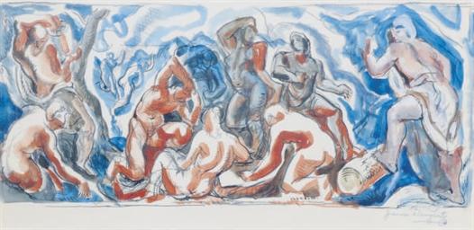The Bathers - a study for a mu