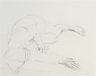 Study of a figure lying on the