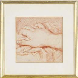 Study of a hand; and a compani