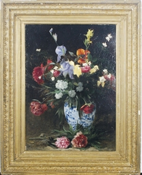 Bouquet of Irises, Poppies and