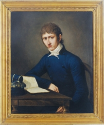 Portrait of a young man readin