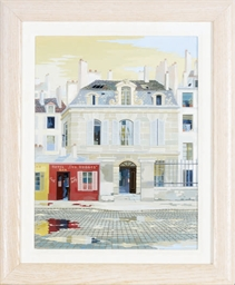 Parisian street scene; and a c