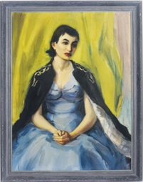 Portrait of a young woman in a
