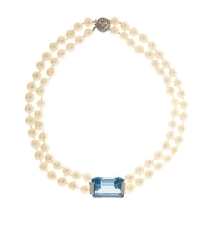 A GROUP OF CULTURED PEARL, AQU