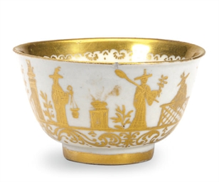 A GERMAN PORCELAIN GOLDCHINESE