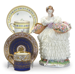 TWO VIENNESE PORCELAIN TEACUPS