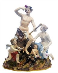 A GERMAN PORCELAIN BACCHANALIA