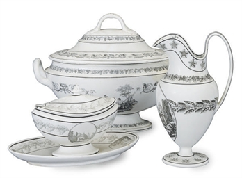 A GROUP OF FRENCH CREAMWARE BL