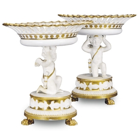 A PAIR OF PARIS PORCELAIN TAZZ