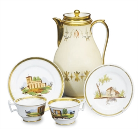 A GROUP OF FRENCH PORCELAIN CO
