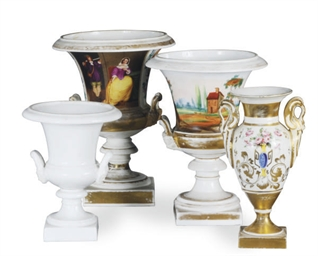 A GROUP OF THREE PARIS PORCELA