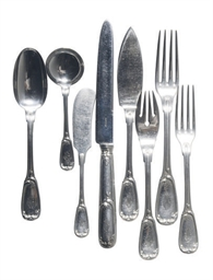 A FRENCH SILVER PART FLATWARE