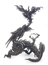 A JAPANESE BRONZE MODEL OF A D