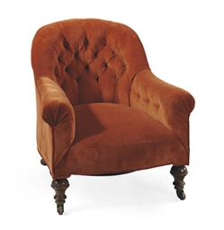 A VICTORIAN WALNUT AND UPHOLST