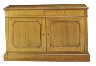 A PAIR OF OAK SIDE CABINETS,