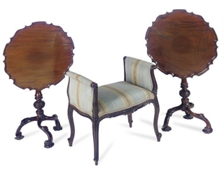 A PAIR OF ENGLISH MAHOGANY TIL