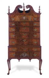 AN AMERICAN MAHOGANY HIGHBOY,