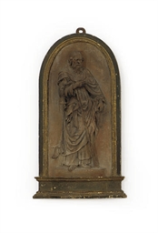AN ITALIAN TERRACOTTA RELIEF O