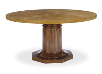 A MAHOGANY DINING TABLE,