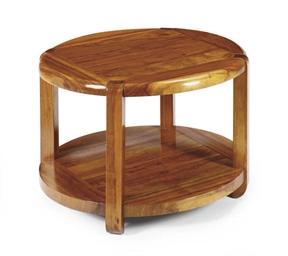 A MAHOGANY CIRCULAR SIDE TABLE