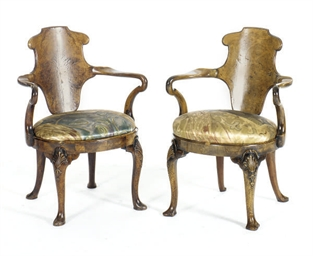 A PAIR OF VICTORIAN WALNUT OPE