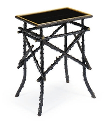AN ADIRONDACK TWIG TABLE,