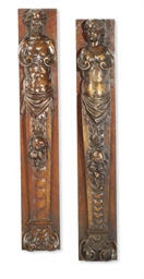 A PAIR OF NORTH EUROPEAN WALNU