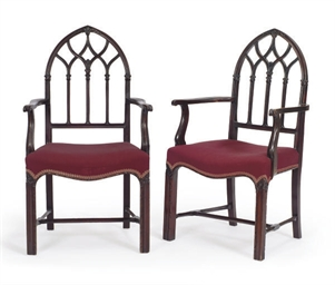 A PAIR OF ENGLISH MAHOGANY OPE