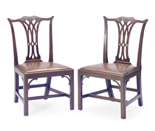 A SET OF SIX ENGLISH MAHOGANY
