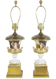 A PAIR OF PARIS PORCELAIN GOLD